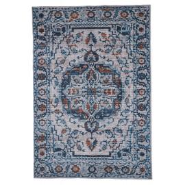 Tapis berbère bleu jeans ethnique Pise
