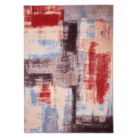 Tapis multicolore de salon en coton design Caserte