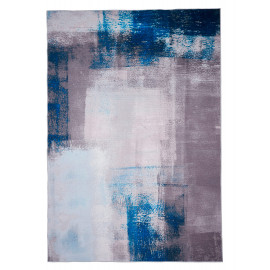 Tapis design gris rectangle en coton Marsala