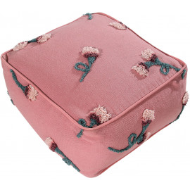 Pouf Lorena Canals rose en coton English Garden