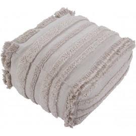 Pouf beige lavable en machine Air Lorena Canals