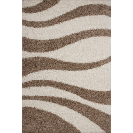 Tapis shaggy Jiva vague