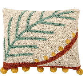 Coussin beige lavable en machine Palm Lorena Canals
