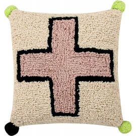 Coussin beige lavable en machine Cross Lorena Canals