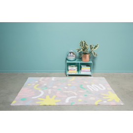 Tapis lavable en machine multicolore Oh Party Lorena Canals