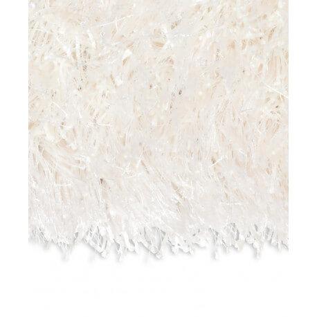 Echantillon du tapis shaggy Beat II blanc par Arte Espina