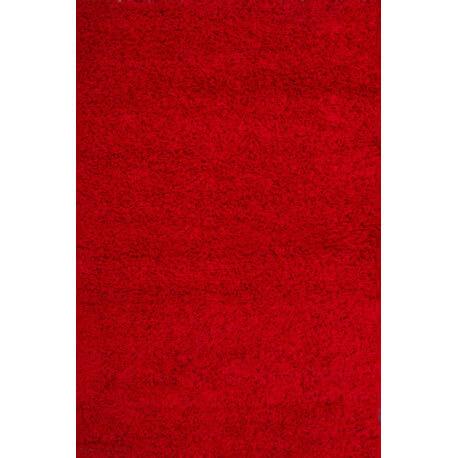 Echantillon du tapis shaggy uni River rouge