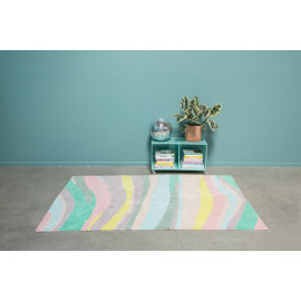 Tapis design effet courbe multicolore Oh Hills Lorena Canals