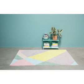 Tapis multicolore lavable en machine moderne Oh Prism Lorena Canals