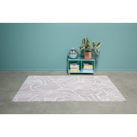 Tapis beige en coton lavable en machine Oh Day Lorena Canals