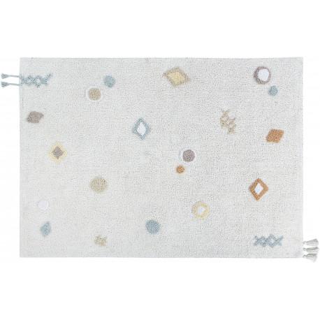 Tapis blanc lavable en machine pour chambre enfant Kim Lorena Canals