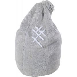 Pouf poire pour enfant en coton lavable en machine gris Siesta Lorena Canals