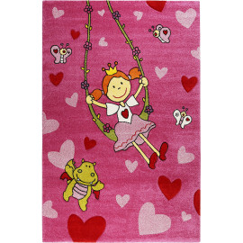 Tapis pour chambre de fille rose Pinky Queeny Sigikid