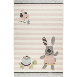 Tapis pour enfant rose Happy Friends Sigikid