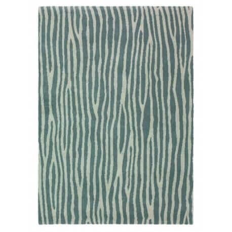 Tapis en polyester gris Spheric Zebra Brink & Campman