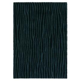 Tapis tissé noir Spheric Zebra Brink & Campman