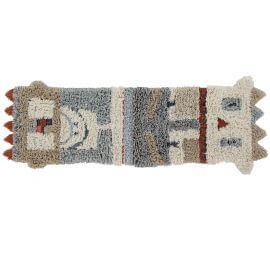 Tapis beige ethnique shaggy en laine lavable en machine Kachina Lorena Canals