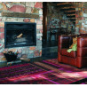 Tapis rectangulaire rouge Fusion Amsterdam Brink & Campman