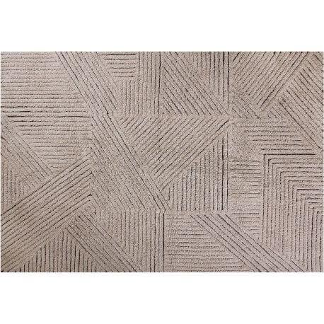 Tapis géométrique en laine lavable en machine scandinave Fields Lorena Canals