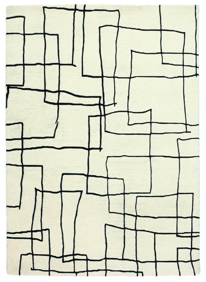 Tapis contemporain blanc Kodari Sketch Brink & Campman