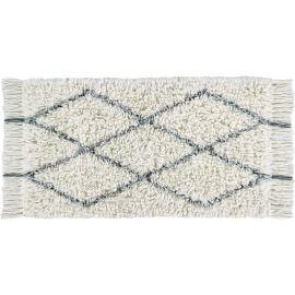 Tapis en laine shaggy gris lavable en machine ethnique Bereber Soul Lorena Canals