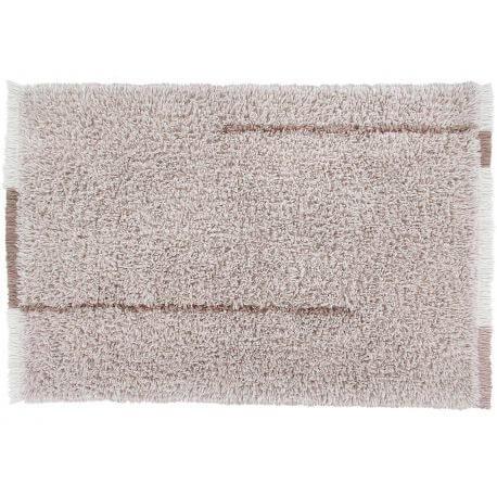 Tapis shaggy en laine lavable en machine avec franges Seasons Lorena Canals