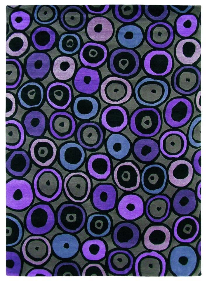 Tapis rectangle violet Kodari Deco Brink & Campman