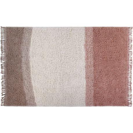 Tapis en laine lavable en machine dégradé avec franges Sound Lorena Canals
