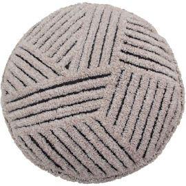 Pouf en laine gris géométrique Fields Lorena Canals