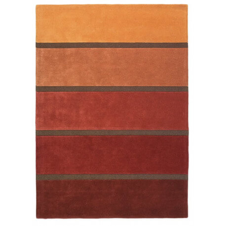 Tapis orange contemporain Luna Brink & Campman