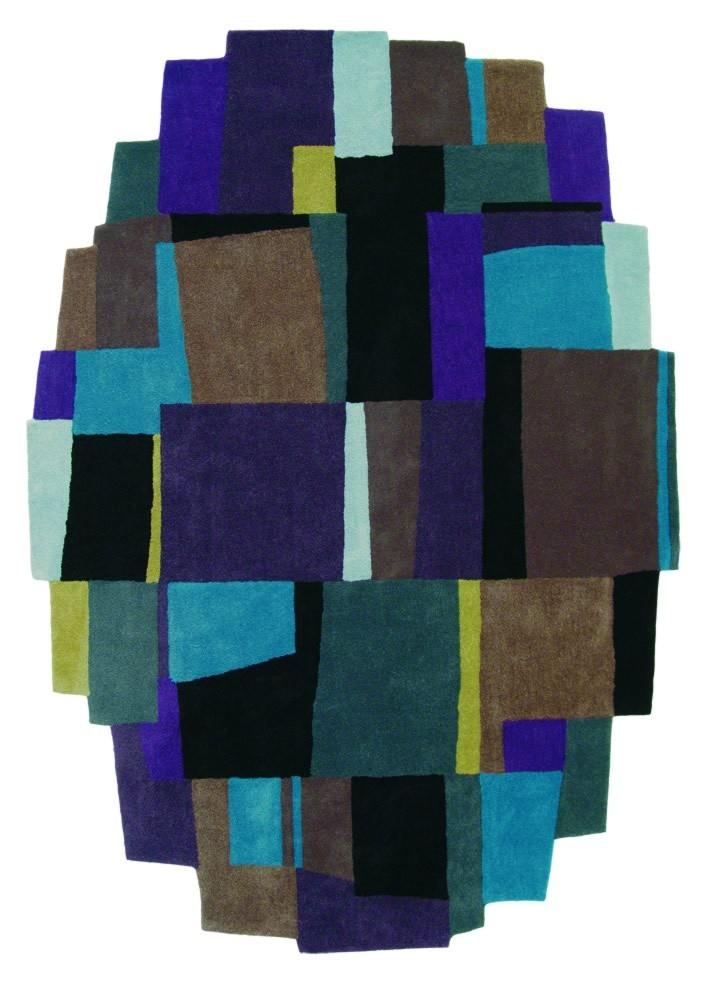 Tapis design violet Xian Elements Brink & Campman