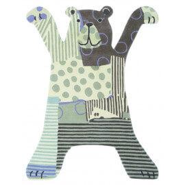 Tapis enfant gris Kids Bear Brink & Campman
