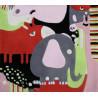 Tapis enfant multicolore Puzzle Animaux Art For Kids