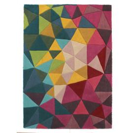 Tapis multicolore en laine géométrique design Falmouth