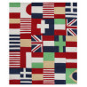 Tapis rouge enfant Puzzle Drapeaux Art For Kids