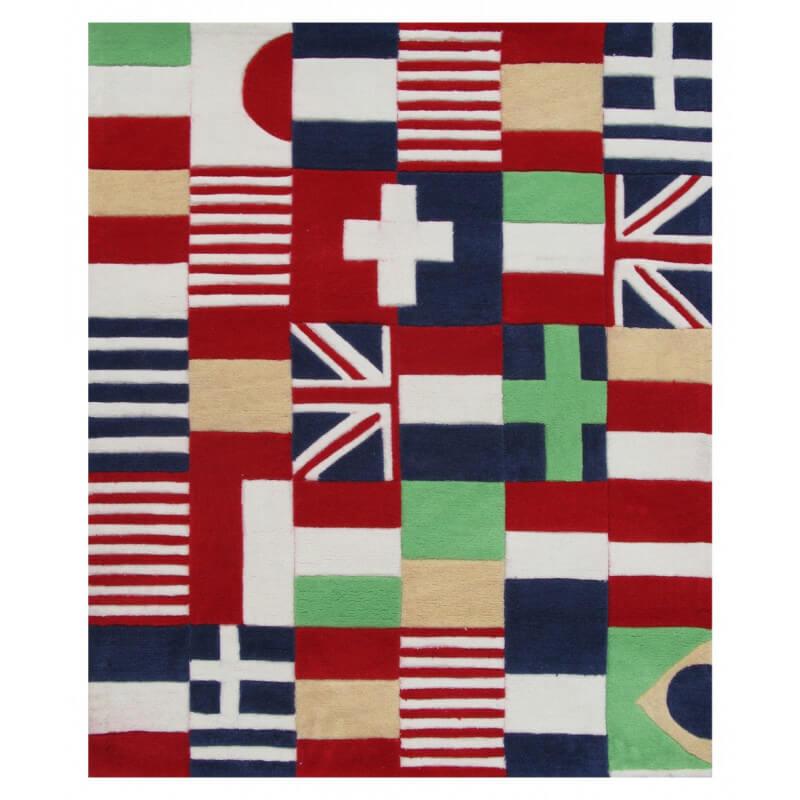tapis rouge enfant puzzle drapeaux art for kids. Black Bedroom Furniture Sets. Home Design Ideas