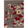 Tapis floral contemporain en polyester rectangle Blossom