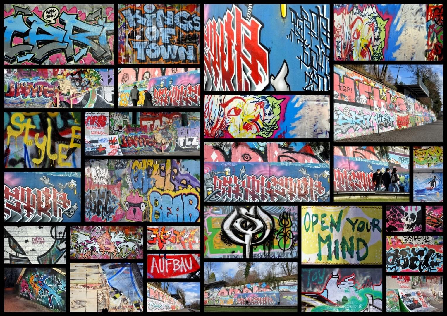 Tapis d'adolescent multicolore Tag View
