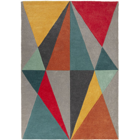 Tapis scandinave multicolore rectangle géométrique Diamonds