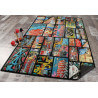 Tapis d'adolescent multicolore Tag View
