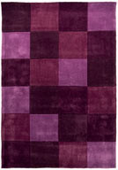Tapis moderne en polyester cubisme pour salon Squared