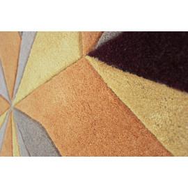 Tapis design intérieur en polyester à courtes mèches Vivid