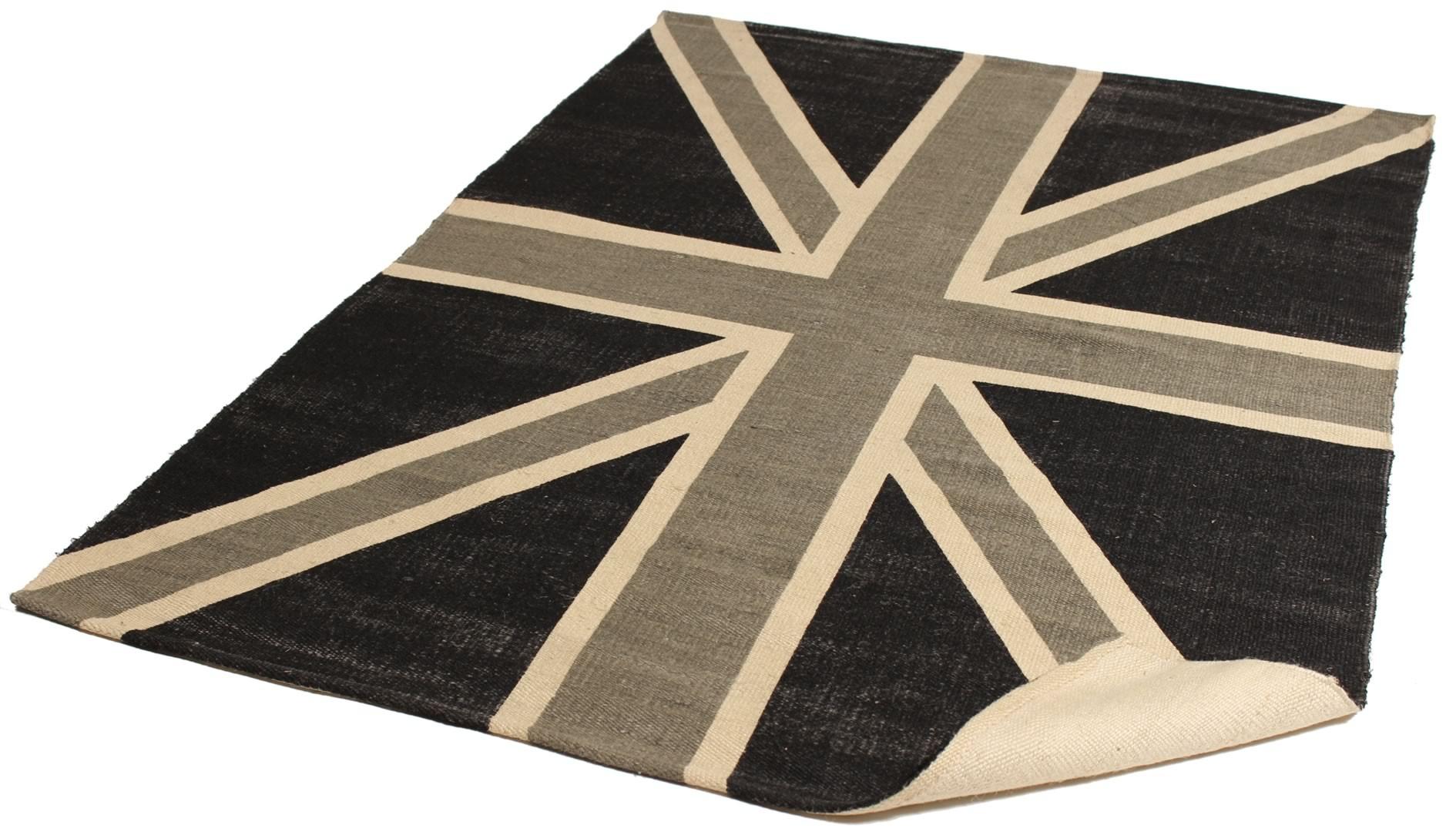 Tapis noir et blanc en jute Of Britain
