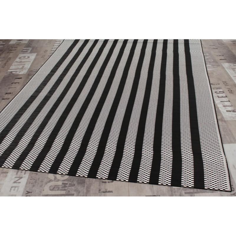 tapis plat en bambou noir et blanc irvin. Black Bedroom Furniture Sets. Home Design Ideas