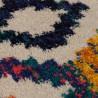Tapis ethnique avec franges multicolore Capella