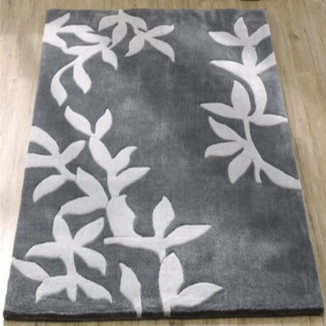 tapis en polyester gris pour salon amond. Black Bedroom Furniture Sets. Home Design Ideas