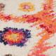 Tapis multicolore design avec franges Nebula