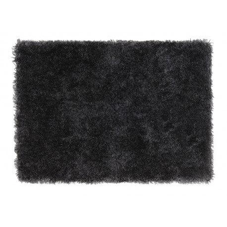 Tapis gris shaggy doux en polyester Raven