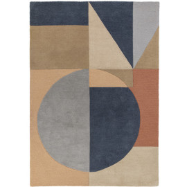 Tapis multicolore graphique en laine design Esre