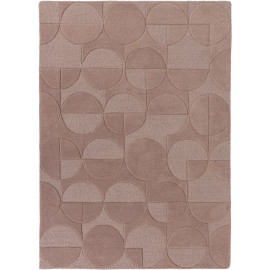 Tapis géométrique en laine design rectangle Gigi